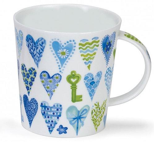 Lomond Hearts Blue - Dunoon fine English bone china