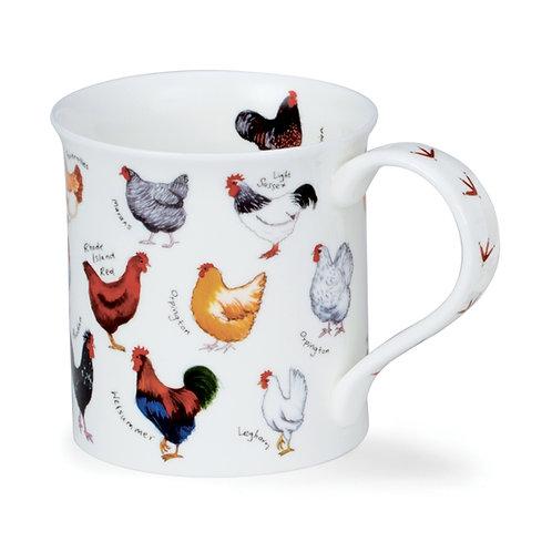 Bute Animal Breeds - Chicken - Coffee and Tea Mug- Dunoon fine English bone china