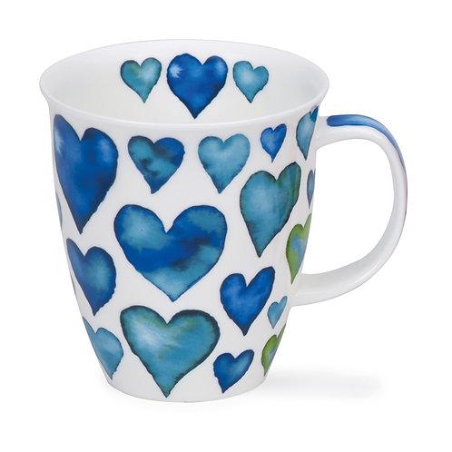 Nevis Hearts - Blue - Dunoon fine English bone china