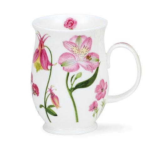Suffolk Floral Melody - Pink - Coffee and Tea Mug- Dunoon fine English bone china