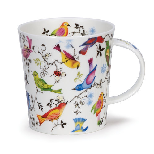 Lomond Paradise Bird Coffee and Tea Mug- Dunoon fine English bone china
