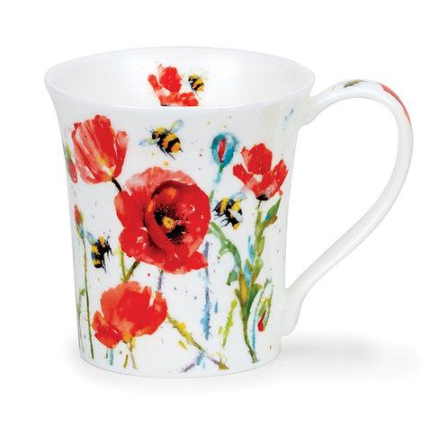 Jura Busy Bees - Poppy - Coffee and Tea Mug- Dunoon fine English bone china