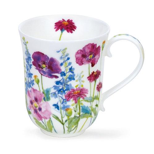 Braemar Cottage Flowers – Purple - Dunoon fine English bone china