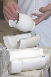 Removing Cast Mug from Mould