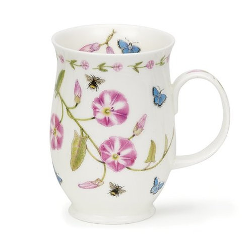 Suffolk Floral Lane - Convolvulus- Coffee and Tea Mug- Dunoon fine English bone china