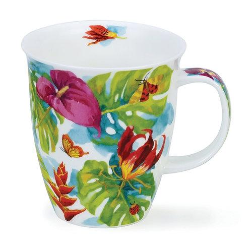 Nevis Tropicana - Red - Dunoon fine English bone china