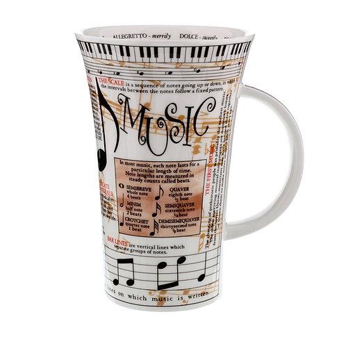 Glencoe Music Coffee and Tea Mug- Dunoon fine English bone china