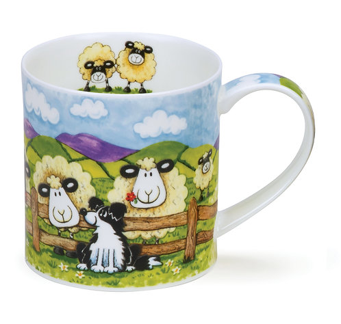 Orkney Silly Sheep - Fence - Dunoon fine English bone china
