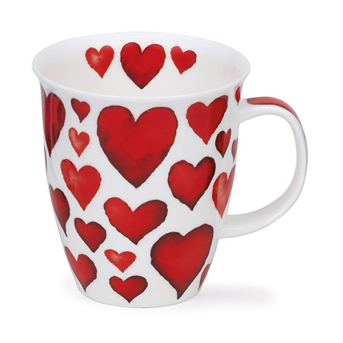 Nevis Hearts - Red - Dunoon fine English bone china