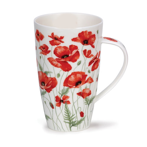 Henley Poppies - Red - Dunoon fine English bone china