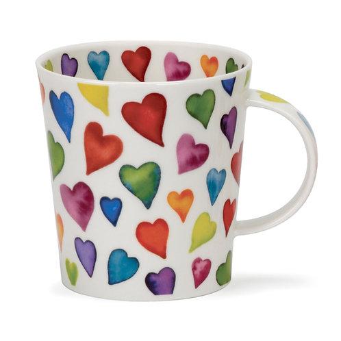 Lomond Warm Hearts Coffee and Tea Mug- Dunoon fine English bone china