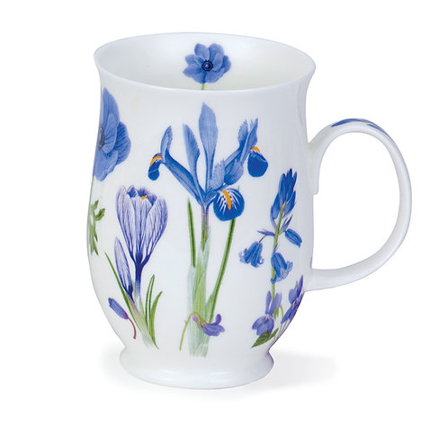 Suffolk Sonata - Blue - Coffee and Tea Mug- Dunoon fine English bone china