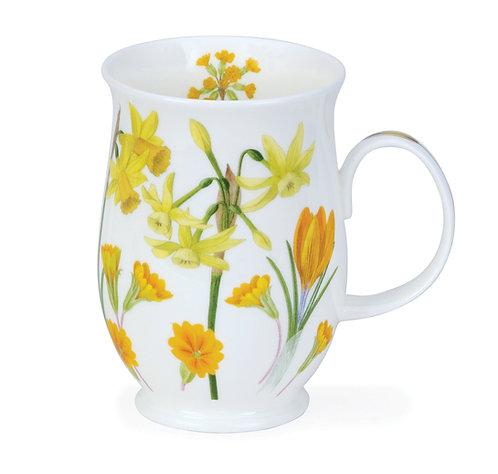 Suffolk Sonata - Yellow - Coffee and Tea Mug- Dunoon fine English bone china