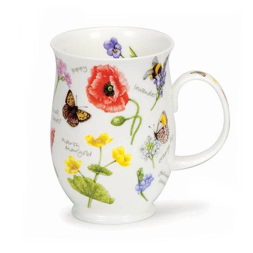 Suffolk Wayside Poppy Coffee and Tea Mug- Dunoon fine English bone china