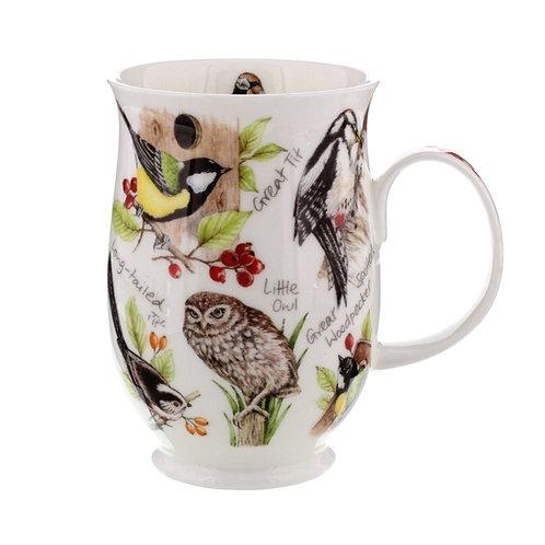 Suffolk Owl coffee mug and tea cup- Dunoon fine English bone china