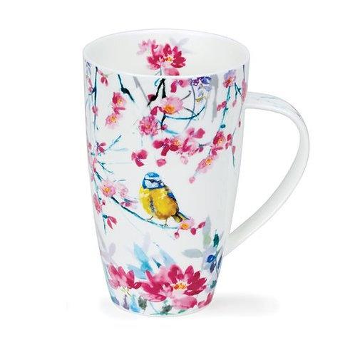 Henley Birdsong Yello Coffee and Tea Mug- Dunoon fine English bone china