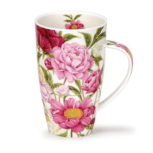 Henley Peonies Coffee and Tea Mug- Dunoon fine English bone china
