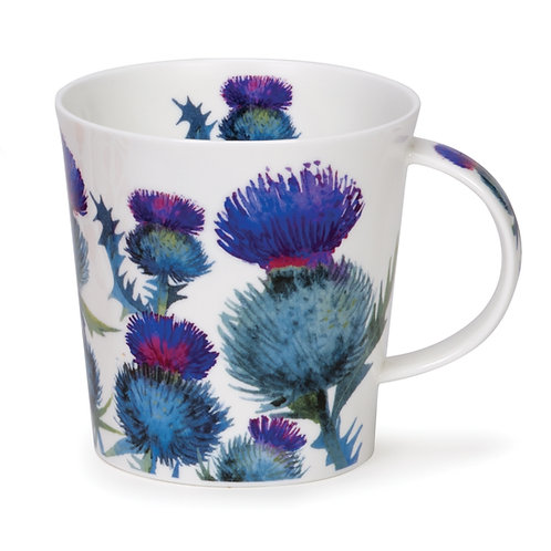 Cairngorm Scottish Thistles Coffee and Tea Mug- Dunoon fine English bone china