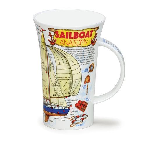 Glencoe Sailboat Anatomy - Dunoon fine English bone china