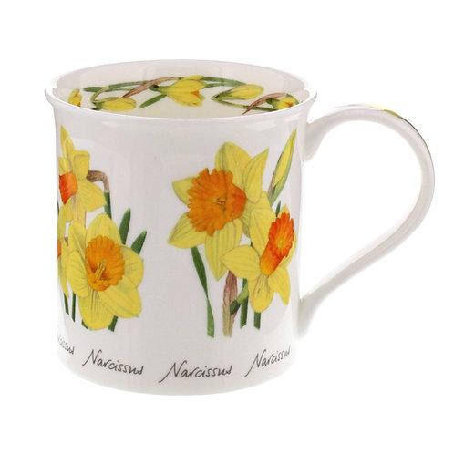 Bute Spring Flowers - Daffodil - Coffee and Tea Mug- Dunoon fine English bone china