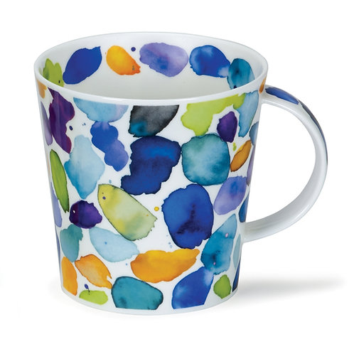 Cairngorm Blobs! Blue Coffee and Tea Mug- Dunoon fine English bone china