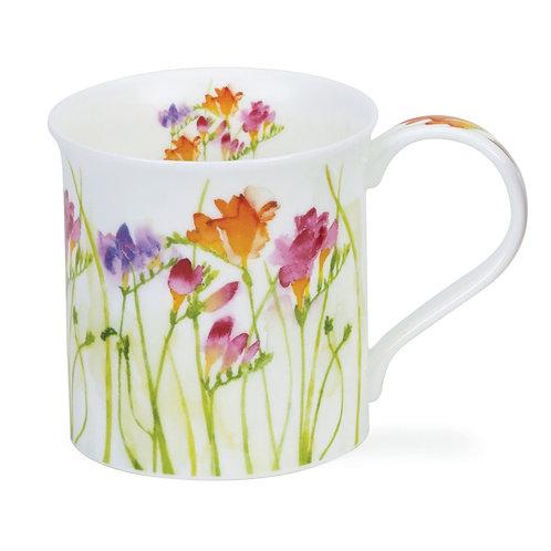 Bute Floral Haze – Freesia - Dunoon fine English bone china