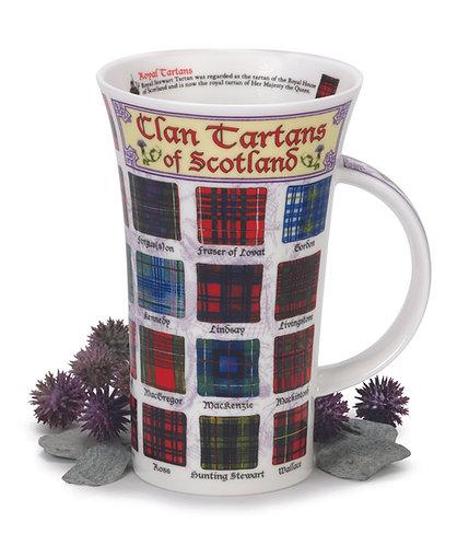 Glencoe Clan Tartans of Scotland Coffee and Tea Mug- Dunoon fine English bone china
