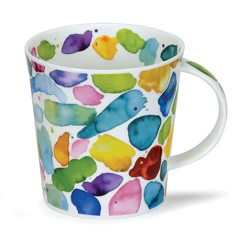 Cairngorm Blobs! Green Coffee and Tea Mug- Dunoon fine English bone china