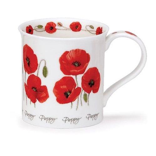 Bute Summer Flowers - Poppy Coffee and Tea Mug- Dunoon fine English bone china