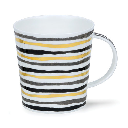 Lomond Bijoux Stripe with Gold  Coffee and Tea Mug- Dunoon fine English bone china