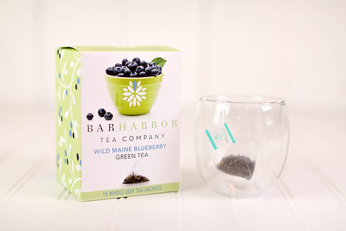 Wild Blueberry Green Tea Teabags