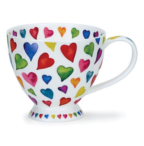 Skye Warm Hearts Coffee and Tea Mug- Dunoon fine English bone china