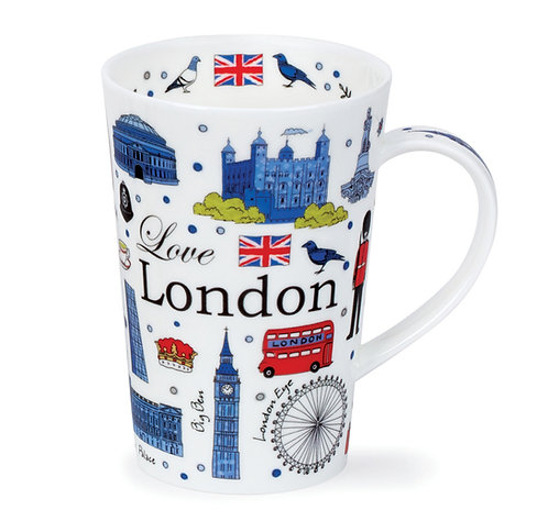 Shetland Love London Coffee and Tea Mug- Dunoon fine English bone china