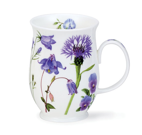 Suffolk Floral Melody - Blue - Coffee and Tea Mug- Dunoon fine English bone china