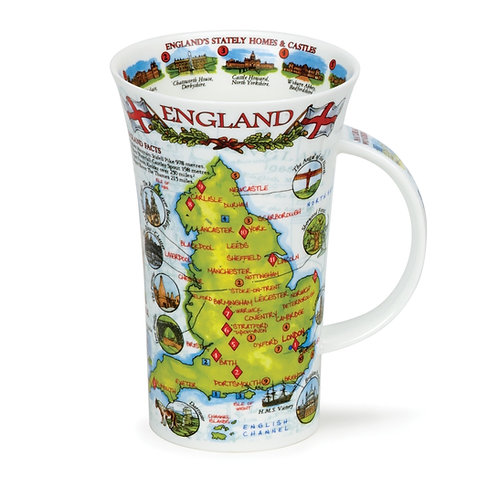 Glencoe England Coffee and Tea Mug- Dunoon fine English bone china