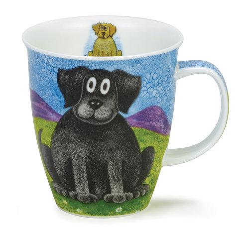 Nevis Happy Dogs Black Lab- Dunoon fine English bone china