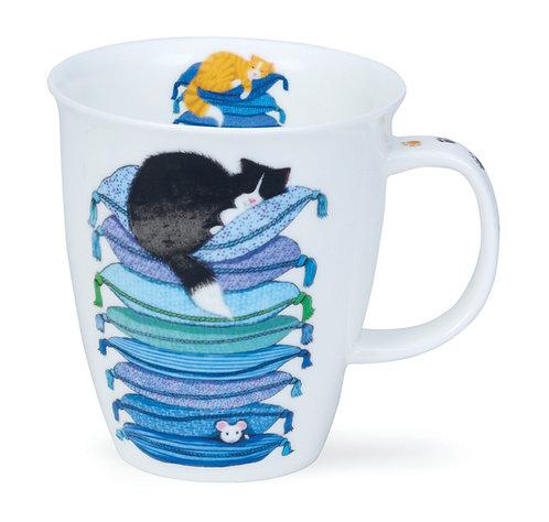 Nevis Sleepy Cats Blue- Dunoon fine English bone china