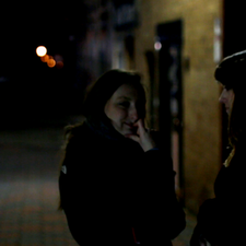 Caitlyn Murray (Writer, Producer) discusses the scene with lead actress, Micah Untiedt (Jane).