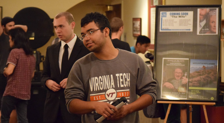Virginia Tech students, ready to experience the college's annual short film festival.