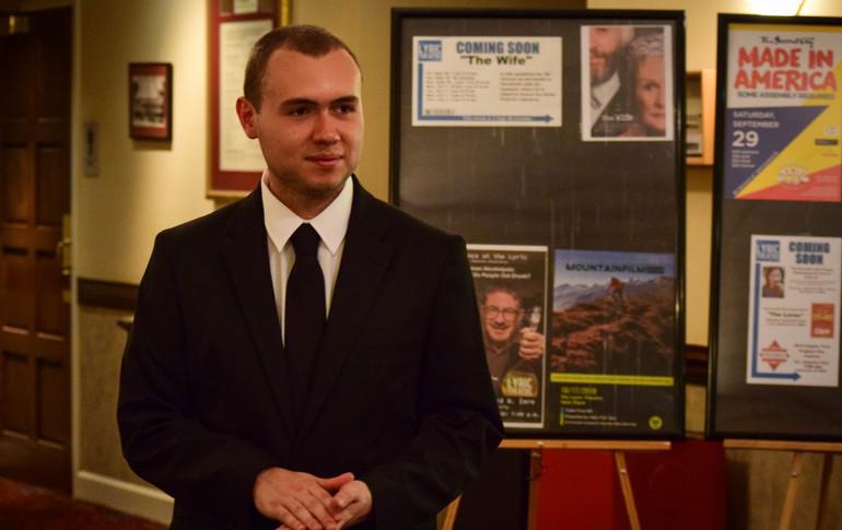 Festival Director, W. Trent Welstead, at the 2018 Progeny Short Film Festival.