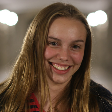 """Shannon Clarke (Female) gladly performs a screen test during the """"Tunnel"""" sequence."""