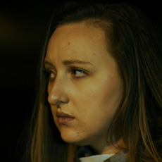"""Caitlyn Murray as """"Sarah"""" in Menace, directed by W. Trent Welstead."""