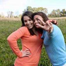 Catherine Crossett and Madison Surry, lead actresses of Harmony.
