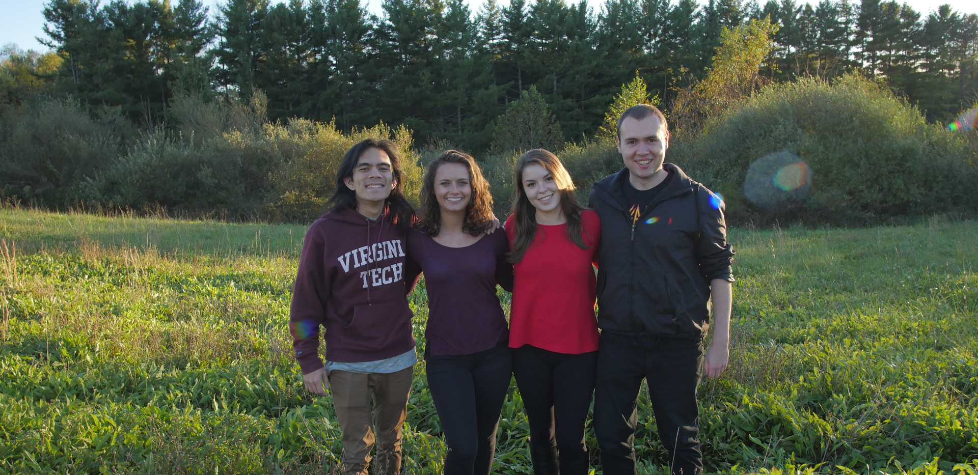 The small, yet ambitious cast and crew of Harmony. From left to right, Grant McMillan (DP), Madison Surry (Actress), Catherine Crossett (Actress), W. Trent Welstead (Director, Producer).