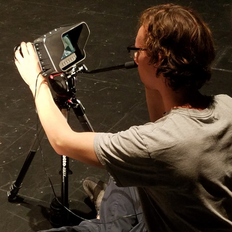 Director of Photography, Mark Meardon, on the set of The Rehearsal.