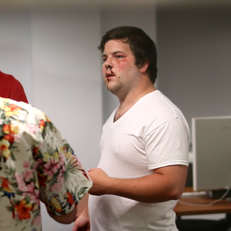 W. Trent Welstead (Director, Producer) discusses choreography with Alex Salvato (Fighter).