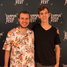 W. Trent Welstead (Director, Producer) and Mark Meardon (DP, Editor), at the CampusMovieFest premiere of Clock-Boy at Virginia Tech.