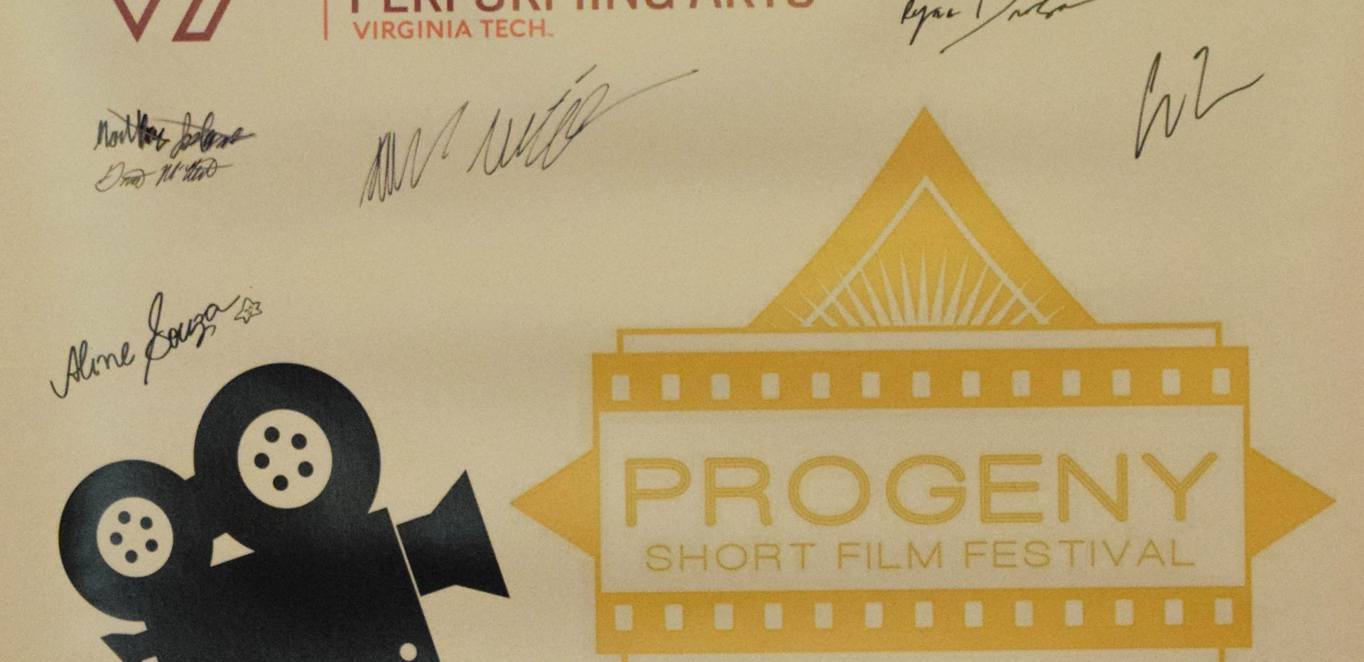 The official Progeny 2018 poster, signed by filmmakers in attendance.