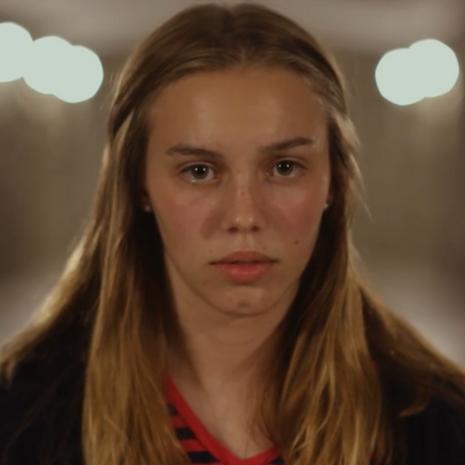 """Shannon Clarke as """"Female"""" in Clock-Boy, directed by W. Trent Welstead."""
