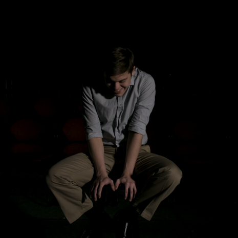 "Jackson Tindall as ""The Actor"" in The Rehearsal, directed by W. Trent Welstead."